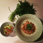 Shredded Mexican Chicken with Avocado Salsa