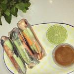Salmon & Vegetable Rice Paper Rolls