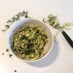 Zucchini 'Pasta' with Pesto and Feta