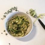 Zucchini 'Pasta' with Pesto and Feta