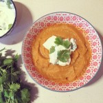 Roasted Sweet Potato, Carrot and Coriander Soup