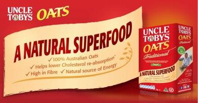 uncle tobys oats nutrition